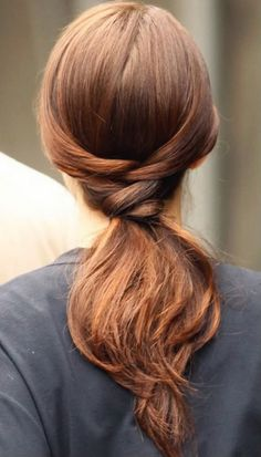 Oh this is very nice :)  It looks like you brush your hair back as if for a ponytail, French braiding at the top a couple of times, leaving two pieces out, place the the ends into the ponytail, then you can wrap the leftover two pieces around the elastic and pin in place. #hair