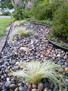 Landscaping with River Rock Installationfront yard landscaping