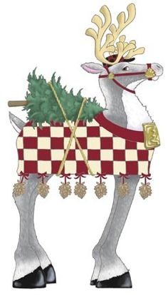 Decked Out Reindeer, Christmas Tree -- by Ronnie Rooney