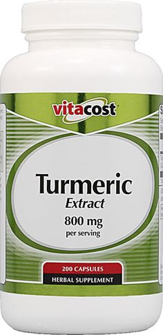 Vitacost Turmeric Extract -- 800 mg per serving - 200 Capsules - Vitacost