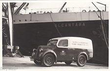 Postcard Marconi International Marine Communication vintage van  reg HMU 892 RP