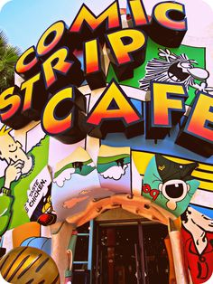 Comic Strip Cafe.. Very good resturaunt in Toon Lagoon at Islands of Adventure.