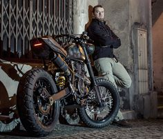 """Customised Suzuki DR800 """"The Drake"""" by Perfect Ride Handcrafted Motorcycles"""