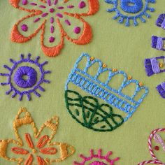 Bloom embroidery pattern from Shiny Happy World