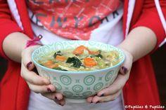 Soupe au poulet et aux légumes façon Jamie Oliver