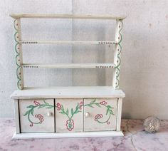 TYNIETOY Painted KITCHEN CABINET Wooden Dollhouse Miniature Furniture 1920s/40s