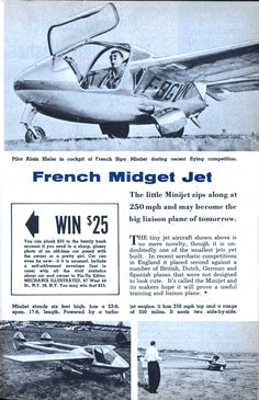 French Midget Jet, my kind of personal transportation!