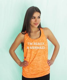 I'm Really a mermaid Burnout Tanktop.