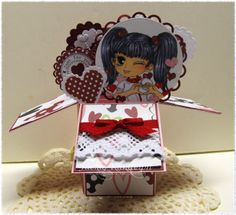 Heart Sign image by artbymiran.blogspot  ~ Pop Up Box Card - splitcoaststampers tutorial