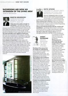 Kitchen design expert panel, featuring Keith Atkins, DesignSpace London founder designspacelondon.com Elle Decoration September 2014
