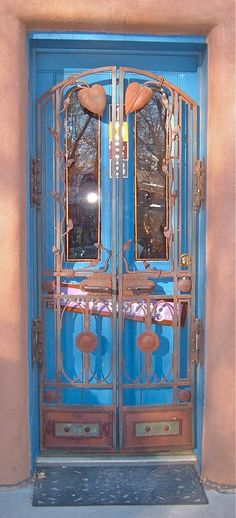 """The Secret of Taos Blue Doors"" Robert Cafazzo (copyright 2011) Taos, New Mexico, USA"