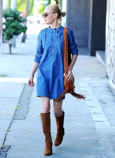 Kate Bosworth Wearing The Angie Dress M I H Jeans