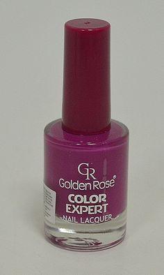 Лак за нокти Golden Rose в пастелен, наситен лилав цвят.