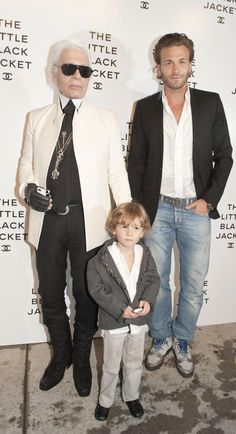 Karl Largerfeld's 3 year old model muse ~ HUdson Kroenig son of model Brad Kroenig