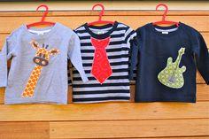 Applique tees for boys: Applique designs for boys