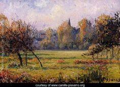 Landscape at Bazincourt - Camille Pissarro - www.camille-pissarro.org