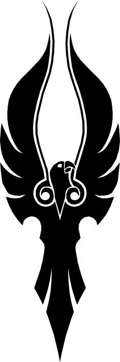 Sindorei Hawk black by Shadowsgaurd on DeviantArt Native American Tattoos, Native American Art, Stencil Templates, Stencils, Tribal Phoenix Tattoo, Haida Art, Eagle Tattoos, Leather Carving, Retro Logos
