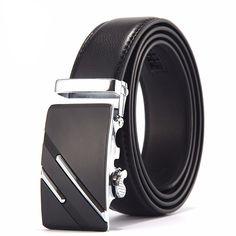 [LFMB]Famous Brand Belt Men Top Quality Genuine Luxury Leather Belts for Men,Strap Male Metal Automatic Buckle Leather Buckle, Leather Belts, Real Leather, Leather Men, Men's Belts, Leather Wallet, Metal Buckles, Belt Buckles, Metal Belt