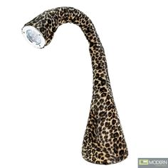 The Nessie Lamp is available in leopard print faux fur.