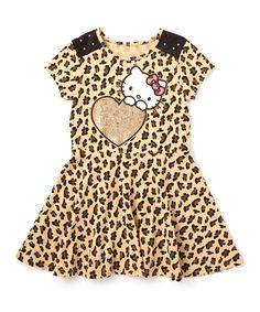 Loving this Praline Hello Kitty Skater Dress - Toddler & Girls on #zulily! #zulilyfinds