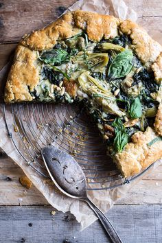 // Spinach and Artichoke Galette