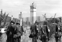 US soldiers at the border between West Germany and East Germany