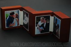 Recycle jewelery/ ring boxes into photo frames