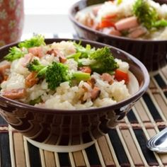 A delicious Korean version fried rice. Easy on the soy sauce. Season it with salt. Add your favorite veggies.