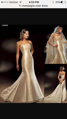 Perfect Champagne pliment color Color Wedding DressesColored