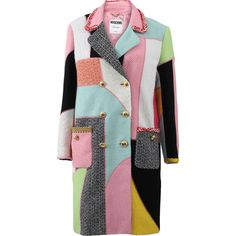 Moschino Patchwork Coat as seen on Demi Lovato