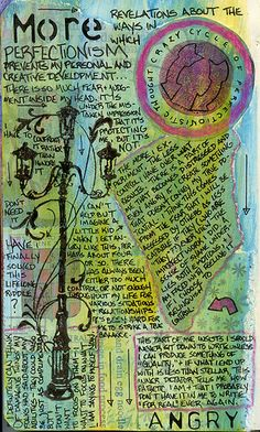 More on Perfectionism (by AnicaAnscott)   Mixed journal pages/fantastic