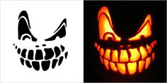 Easy Scary Pumpkin Faces To Carve Spooky Pumpkin Carving Patterns Scary Pumpkin Carving Patterns Easy Easy Scary Pumpkin Carving Patterns Printable Pumpkin Stencils, Halloween Pumpkin Carving Stencils, Scary Halloween Pumpkins, Easy Pumpkin Carving, Pumpkin Template, Pumpkin Carving Templates, Spooky Pumpkin, Halloween Decorations, Pumpkin Faces