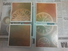 Antique Clock Tile Coasters by Veraltet on Etsy