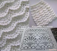 Fabulous Crochet a Little Black Crochet Dress Ideas. Georgeous Crochet a Little Black Crochet Dress Ideas. Crochet Skirt Pattern, Crochet Skirts, Crochet Diagram, Crochet Stitches Patterns, Crochet Chart, Crochet Motif, Diy Crochet, Irish Crochet, Crochet Designs