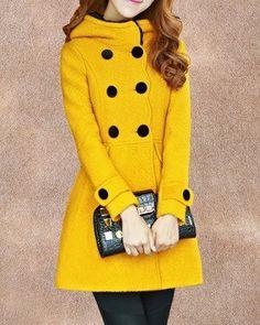 5- colors women's Princess style  dress coat  Wool jacket  Double button coat  Apring autumn winter coat jacket cute coat  overcoat  topC145