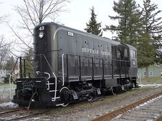 Locomotive in Hamburg NY on Flickr.  I think this beautifully restored diesel locomotive is my favorite, however.