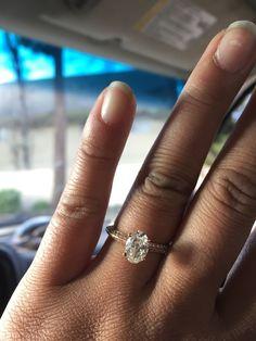 14K White Gold Pavé Knife Edge Lotus Basket Engagement Ring with Oval Cut  Diamond   Vintage 965c55603d