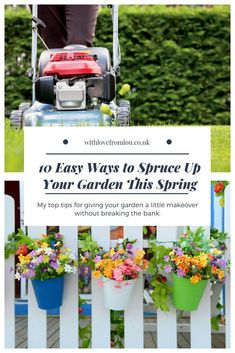 Easy Ways to Spruce Up Your Garden On a Budget - With love from Lou Garden Pests, Garden Toys, Organic Gardening, Gardening Tips, Vegetable Gardening, Garden Fence Panels, Gardening Magazines, Gardening Books, Garden Makeover