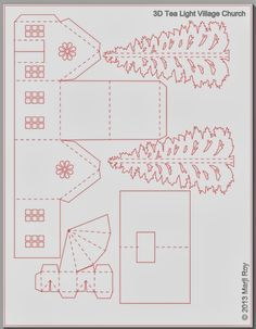 Fensterdeko Ashbee Design Silhouette Projekte: Tealight Village Church Tutorial Give your Garden a N Christmas Paper, Christmas Projects, Christmas Home, Holiday Crafts, Christmas Ornaments, Christmas Village Houses, Putz Houses, Christmas Villages, Tiny Houses
