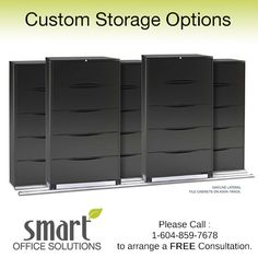 We offer a wide variety of storage options to keep your office organized and efficiently operating at all times. Our products include Bookcases, Shelves, Lateral Files and Cabinets from leading brands like Steelcase, Knoll, Teknion and more!