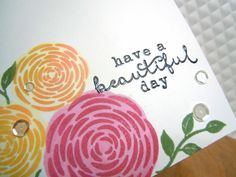 """I have a bright, happy, clean and simple card to share with you today.     I used the """"You're so Lovely"""" stamp set from Hero Arts, along wit..."""