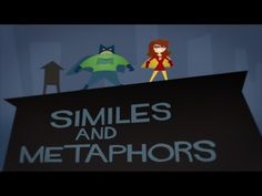 Simile Girl and Metaphor Man are here to save the day! These heroes make learning your similes and metaphors as easy as pie. Similes and Metaphors By The Baz. Teaching Poetry, Teaching Language Arts, Classroom Language, Teaching Writing, Teaching English, Teaching Ideas, Teaching Grammar, Grammar Games, Teaching Tools