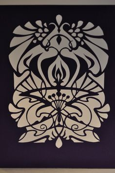 Art Nouveau, paper cutting cards on Behance