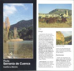 Folleto turístico de la Serranía de Cuenca, Principales municipios, lugares de interés y mapa de situación. Infotur Castilla-La Mancha, 1997. #Cuenca #Turismo