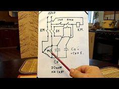 Запуск 3-х фазного двигателя под нагрузкой от 220 вольт с помошью пуск стоповых кнопок - YouTube