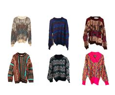 3 Pack -- Mystery Cosby Sweater - Bill Cosby - Fresh Prince - Saved by the Bell - 90s Hipster Sweaters