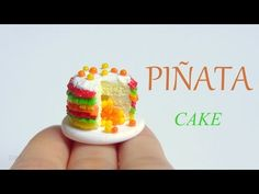 [Stop Motion] Polymer Clay Pinata Cake Tutorial / Tutoriel Fimo - YouTube