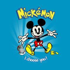Check out this awesome 'Mickémon!' design on @TeePublic! Mickey Mouse Pokémon pikachu mickemon go tshirt disney