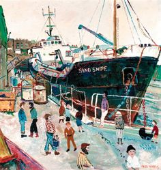 Fred Yates - At the Harbour | WikiArt.org
