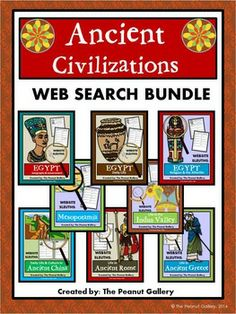 Your students will become web detectives when they discover answers to questions about ancient civilizations in these Web Sleuth activities. 6th Grade Social Studies, Social Studies Classroom, Social Studies Activities, Teaching Social Studies, Teaching History, Ancient Civilizations Lessons, Ancient Mesopotamia, School Ideas, School Fun